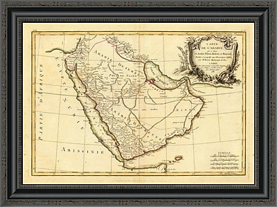 East Urban Home 'Arabie; 1785' Framed Print; 32'' H x 26'' W x 1.5'' D