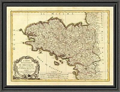 East Urban Home 'Bretagne; 1786' Framed Print; 34'' H x 40'' W x 1.5'' D