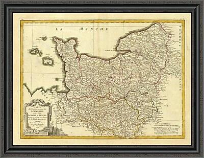 East Urban Home 'Normandie; Maine; Perche; 1791' Framed Print; 16'' H x 34'' W x 1.5'' D