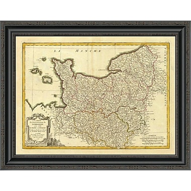East Urban Home 'Normandie; Maine; Perche; 1791' Framed Print; 33'' H x 26'' W x 1.5'' D