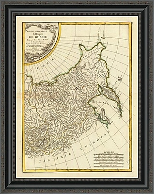 East Urban Home 'Russia Orientale; 1785' Framed Print; 31'' H x 21'' W x 1.5'' D