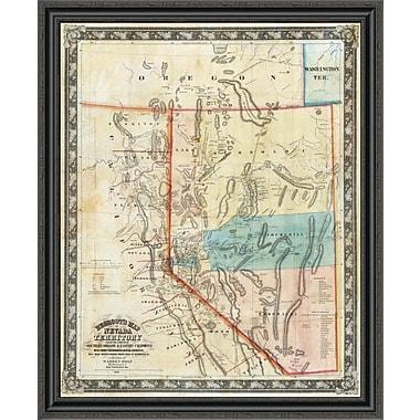 East Urban Home 'Nevada Territory; 1863' Framed Print; 26'' H x 33'' W x 1.5'' D