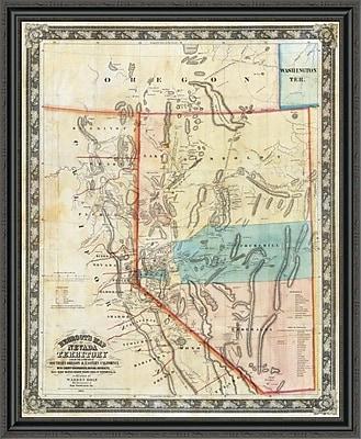 East Urban Home 'Nevada Territory; 1863' Framed Print; 34'' H x 36'' W x 1.5'' D