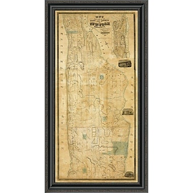 East Urban Home 'City and County of New York North of 50Th St.; 1851' Framed Print