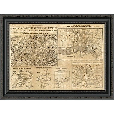 East Urban Home 'Important Operations in Kentucky and Tennessee; 1861' Framed Print