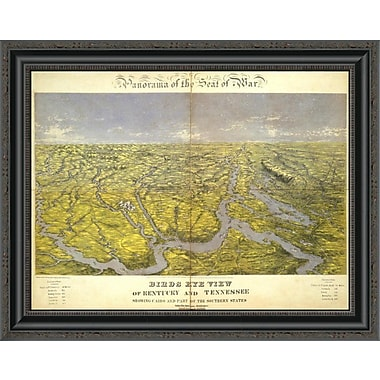 East Urban Home 'Kentucky and Tennessee; 1861' Framed Print; 20'' H x 26'' W x 1.5'' D