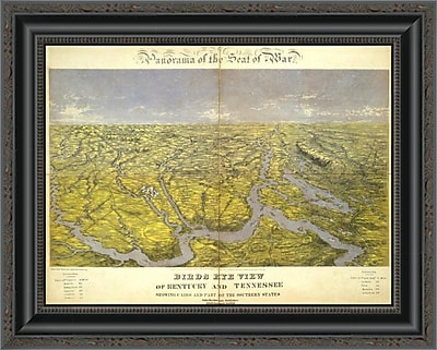 East Urban Home 'Kentucky and Tennessee; 1861' Framed Print; 22'' H x 20'' W x 1.5'' D
