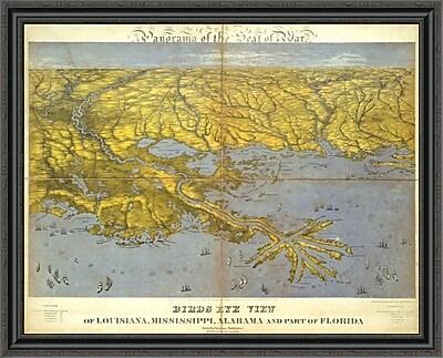 East Urban Home 'Louisiana; Mississippi; Alabama and Part of Florida; 1861' Framed Print