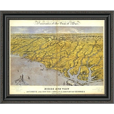 East Urban Home 'North and South Carolina and Part of Georgia; 1861' Framed Print
