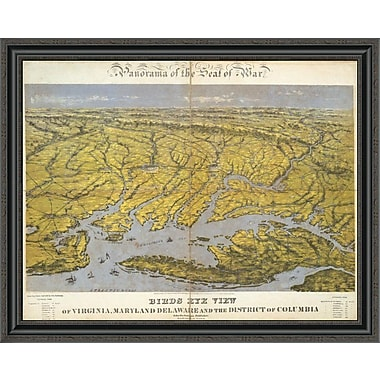 East Urban Home 'Virginia; Maryland Delaware and the District of Columbia; 1861' Framed Print
