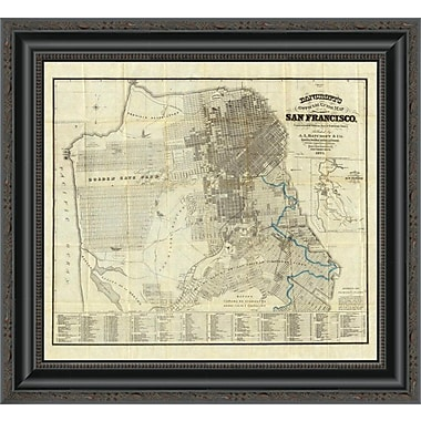 East Urban Home 'Official Guide Map of City and County of San Francisco; 1873' Framed Print