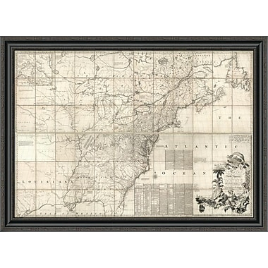 East Urban Home 'Map of the British and French Dominions in North America; 1757' Framed Print