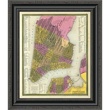 East Urban Home 'City of New York; 1846' Framed Print; 32'' H x 17'' W x 1.5'' D