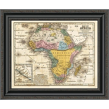 East Urban Home 'Map of Africa; 1839' Framed Print; 17'' H x 20'' W x 1.5'' D