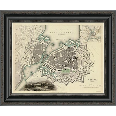 East Urban Home 'Geneva; Switzerland; 1841' Framed Print; 20'' H x 20'' W x 1.5'' D