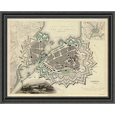 East Urban Home 'Geneva; Switzerland; 1841' Framed Print; 34'' H x 34'' W x 1.5'' D