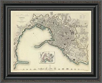 East Urban Home 'Genoa; Italy; 1836' Framed Print; 17'' H x 20'' W x 1.5'' D