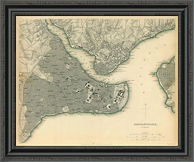 East Urban Home 'Istanbul; Turkey; 1840' Framed Print; 21'' H x 26'' W x 1.5'' D