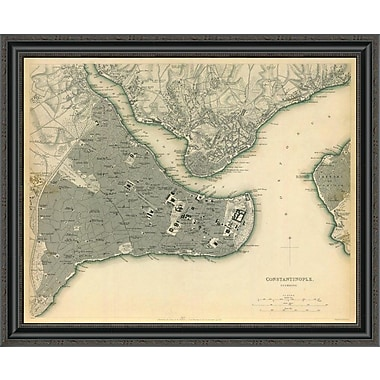 East Urban Home 'Istanbul; Turkey; 1840' Framed Print; 27'' H x 34'' W x 1.5'' D