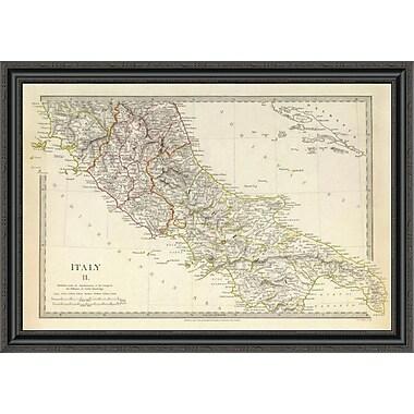 East Urban Home 'Italy II; 1830' Framed Print; 33'' H x 40'' W x 1.5'' D