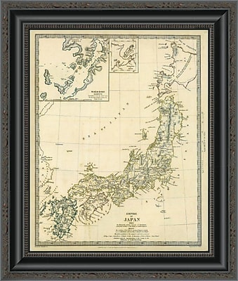 East Urban Home 'Japan; Nagasaki; 1835' Framed Print; 20'' H x 17'' W x 1.5'' D