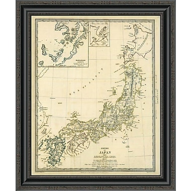 East Urban Home 'Japan; Nagasaki; 1835' Framed Print; 26'' H x 22'' W x 1.5'' D