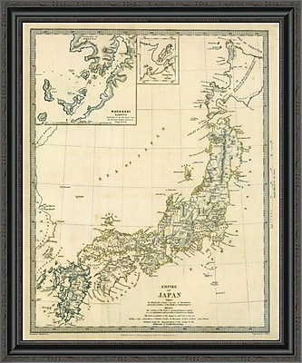 East Urban Home 'Japan; Nagasaki; 1835' Framed Print; 34'' H x 28'' W x 1.5'' D