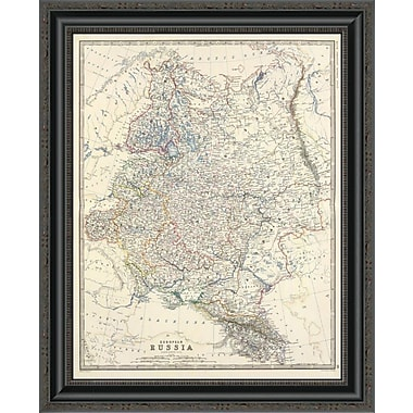 East Urban Home 'Russia; European; 1861' Framed Print; 21'' H x 21'' W x 1.5'' D