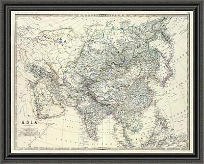 East Urban Home 'Asia; 1861' Framed Print; 40'' H x 40'' W x 1.5'' D