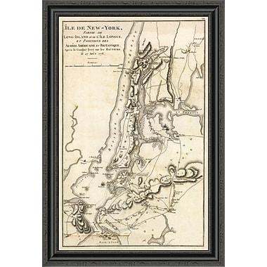 'Ile De New York Et Positions Des Armees Americaine Et Britannique; 27 Aout 1776' Framed Print