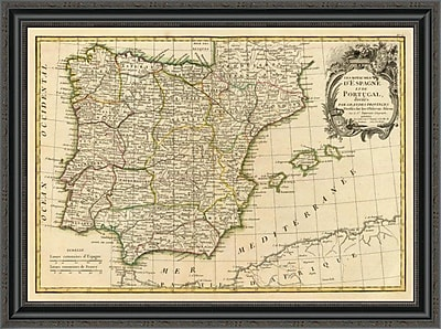 East Urban Home 'Espagne; Portugal; 1780' Framed Print; 26'' H x 34'' W x 1.5'' D