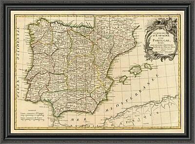 East Urban Home 'Espagne; Portugal; 1780' Framed Print; 34'' H x 40'' W x 1.5'' D