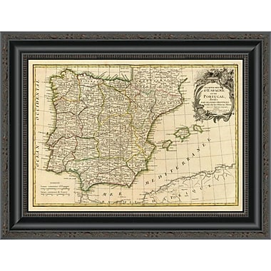 East Urban Home 'Espagne; Portugal; 1780' Framed Print; 40'' H x 20'' W x 1.5'' D