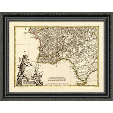 East Urban Home 'Portugal; Algarve Meridionale; 1780' Framed Print; 20'' H x 26'' W x 1.5'' D
