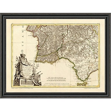 East Urban Home 'Portugal; Algarve Meridionale; 1780' Framed Print; 29'' H x 40'' W x 1.5'' D