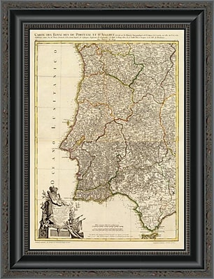 East Urban Home 'Composite: Portugal; Algarve; 1780' Framed Print; 32'' H x 15'' W x 1.5'' D