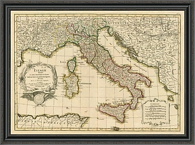 East Urban Home 'L'Italie; 1780' Framed Print; 26'' H x 40'' W x 1.5'' D