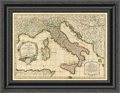 East Urban Home 'L'Italie; 1780' Framed Print; 32'' H x 20'' W x 1.5'' D