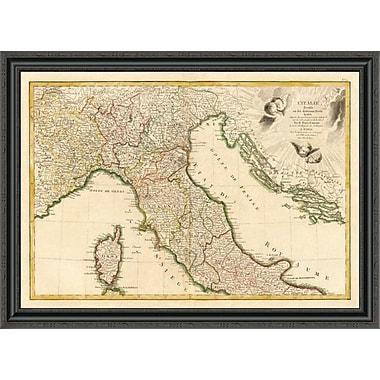East Urban Home 'L'Italie Septentrionale; 1780' Framed Print; 40'' H x 40'' W x 1.5'' D
