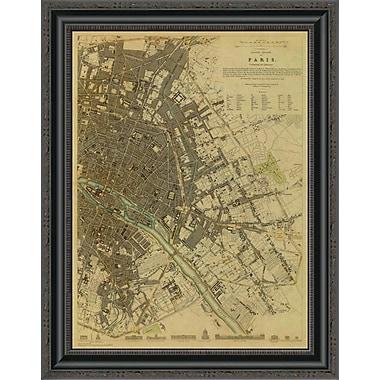 East Urban Home 'Paris; France; 1834 - Tea Stained' Framed Print; 22'' H x 20'' W x 1.5'' D