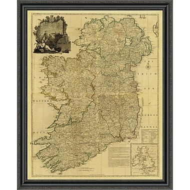 East Urban Home 'Composite: Ireland; 1790 - Tea Stained' Framed Print; 18'' H x 33'' W x 1.5'' D