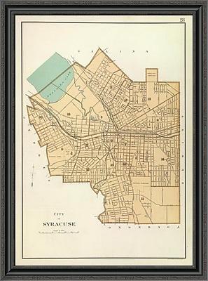 East Urban Home 'Syracuse; New York; 1895' Framed Print; 29'' H x 30'' W x 1.5'' D
