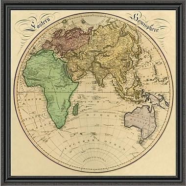 East Urban Home 'Eastern Hemisphere; 1831' Framed Print; 20'' H x 40'' W x 1.5'' D