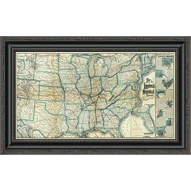 East Urban Home 'Louisville and Nashville Railroad; 1886' Framed Print; 30'' H x 26'' W x 1.5'' D