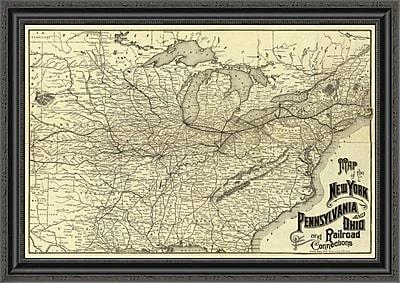 East Urban Home 'New York; Pennsylvania and Ohio Railroad; 1887' Framed Print