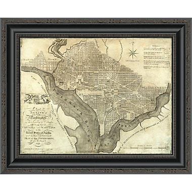 East Urban Home 'Plan of the City of Washington; 1795' Framed Print; 28'' H x 20'' W x 1.5'' D