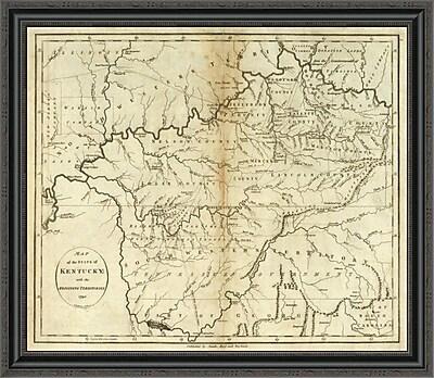 East Urban Home 'State of Kentucky; 1796' Framed Print; 22'' H x 34'' W x 1.5'' D