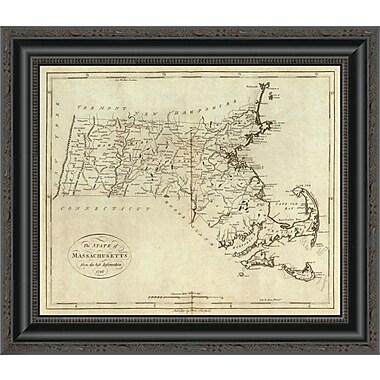 East Urban Home 'State of Massachusetts; 1796' Framed Print; 33'' H x 20'' W x 1.5'' D