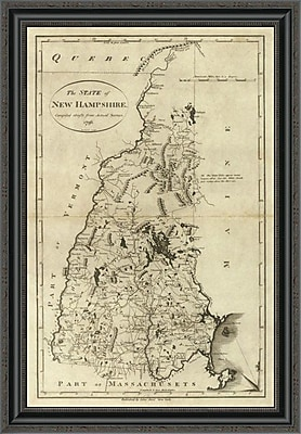East Urban Home 'State of New Hampshire; 1796' Framed Print; 18'' H x 24'' W x 1.5'' D