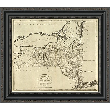 East Urban Home 'State of New York; 1796' Framed Print; 29'' H x 20'' W x 1.5'' D